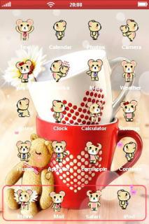 Bear Love Mobile Theme