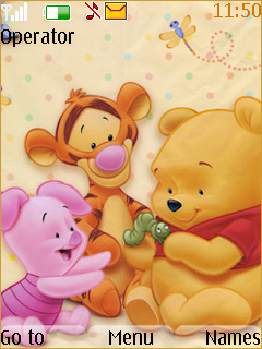 Pooh Baby Friends Mobile Theme