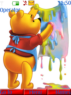 Pooh Painting Mobile Theme