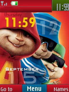 Chipmunk Clock Mobile Theme