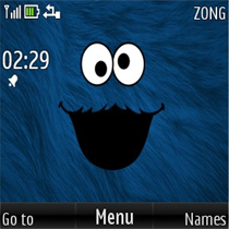 Cookie Monster Mobile Theme
