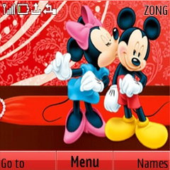 Mickey And Minnie Mouse Mobile Theme