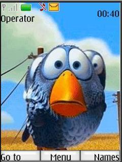 Blue Bird Mobile Theme
