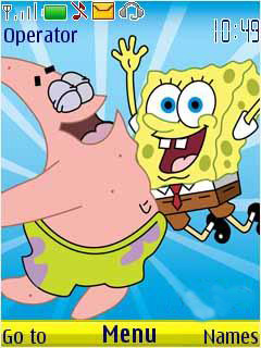 Spongbob N Patrick Mobile Theme
