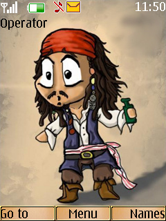 Jack Sparrow Mobile Theme