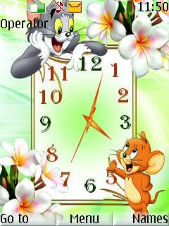 Tom And Jerry Clock Mobile Theme
