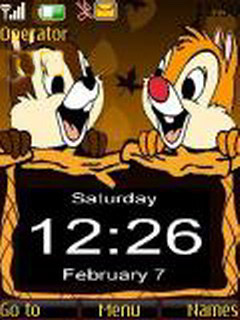 Chip N Dale Clock Mobile Theme
