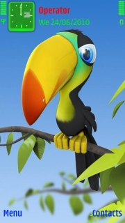 3D Tucan Bird Mobile Theme