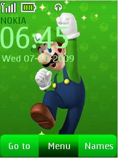 Luigi Touch Mobile Theme