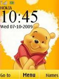 Happy Pooh Clock Mobile Theme
