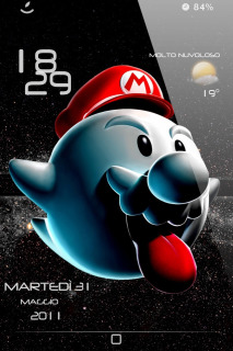 Boo Mario LS IPhone Theme Mobile Theme