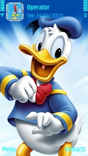 Donald Duck S60v5 Theme Mobile Theme