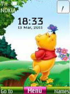 Pooh Clock Mobile Theme