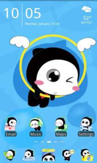 Hu Hu Kitty For Android Theme Mobile Theme