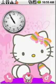 Hello Kitty Clock For Android Theme Mobile Theme