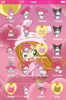 Lovely Loli Girl For IPhone Theme Mobile Theme