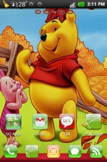 Winnie The Pooh For Android Theme Mobile Theme