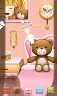 Teddy Sleep For Android Theme Mobile Theme