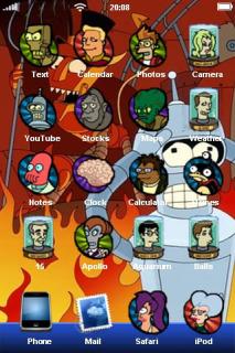 Futurama Kids Cartoon IPhone Theme Mobile Theme