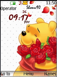 Pooh Clock S40 Theme Mobile Theme