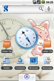 Pinky Android Clock For Android Theme Mobile Theme