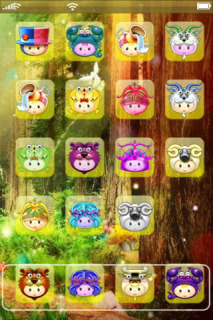 Cute Cartoon Faces For IPhone Theme Mobile Theme