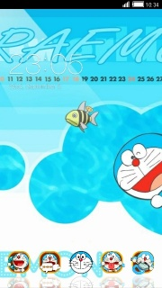 Doraemon Happy Android Theme Mobile Theme