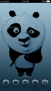 Kung Fu Panda Style Android Theme Mobile Theme