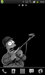 Simpson Shoot Gun Android Theme Mobile Theme