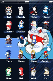 Characters Of Doraemon ICons IPhone Theme Mobile Theme