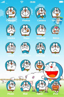 Funny Face Of Doraemon IPhone Theme Mobile Theme