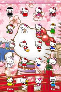 Hello Kitty Cute IPhone Theme Mobile Theme