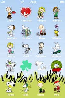 Snoopy Cartoon ICons IPhone Theme Mobile Theme