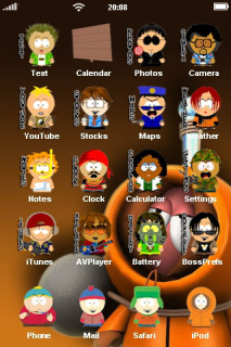 Iceman & Cartoon ICons IPhone Theme Mobile Theme