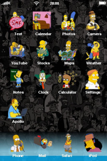 Simpsons Family ICons IPhone Theme Mobile Theme