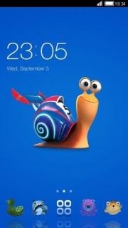 Snail Bob Free Android Theme Mobile Theme