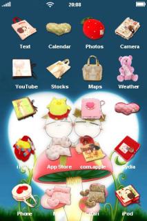 Love Toy On Mushroom IPhone Theme Mobile Theme