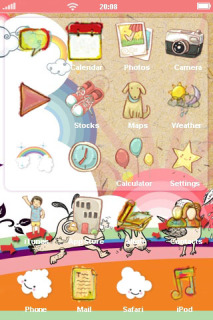 Cartoon ICons Toys IPhone Theme Mobile Theme