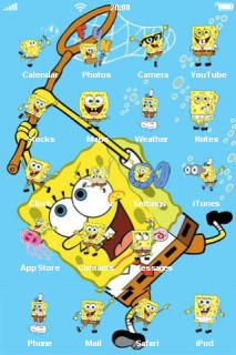 Sponge Bob Playing Catch IPhone Theme Mobile Theme