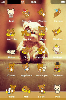 Loving Lonely Bear IPhone Theme Mobile Theme