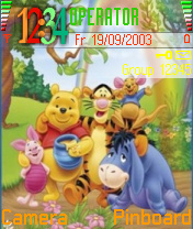 Pooh Friends Mobile Theme