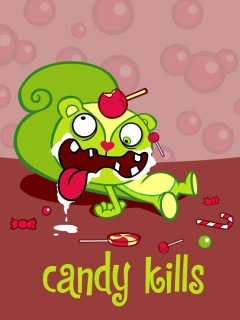 Cartoons World Candy Kills Mobile Theme