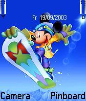 Mickey Snow Theme Mobile Theme