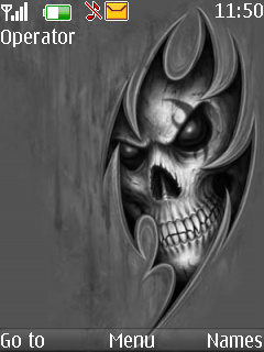 Black Skull Nokia S40 Theme Mobile Theme