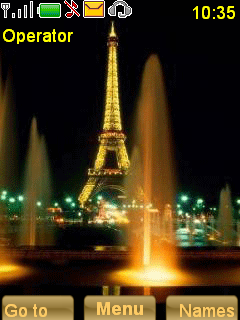 Efil Tower Night Mobile Theme