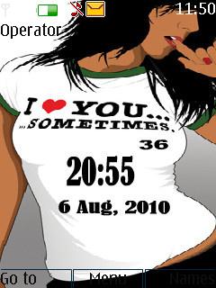 Girl Clock Mobile Theme
