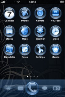 Orbit Glass Blue Mobile Theme