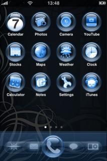 Orbit Glass Blue Mobile Theme