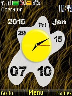 Egg Clock Mobile Theme
