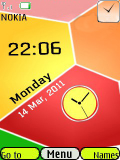3D Blocks Clock Mobile Theme